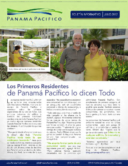 Boletín Informativo - Julio 2012