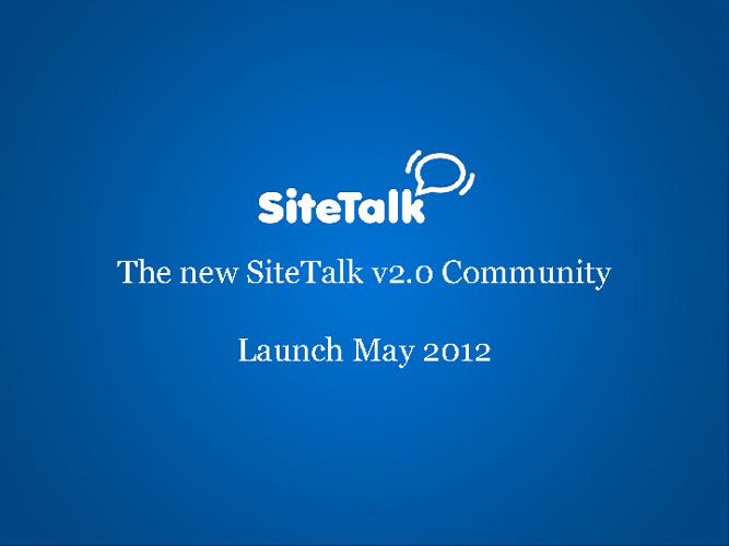 New SiteTalk 2.0