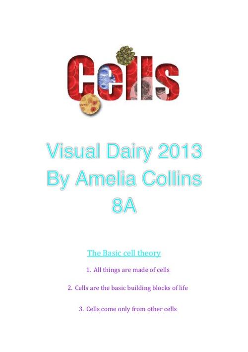 Cells Visual Diary 2013