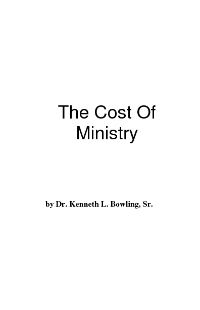 The Cost of Ministry