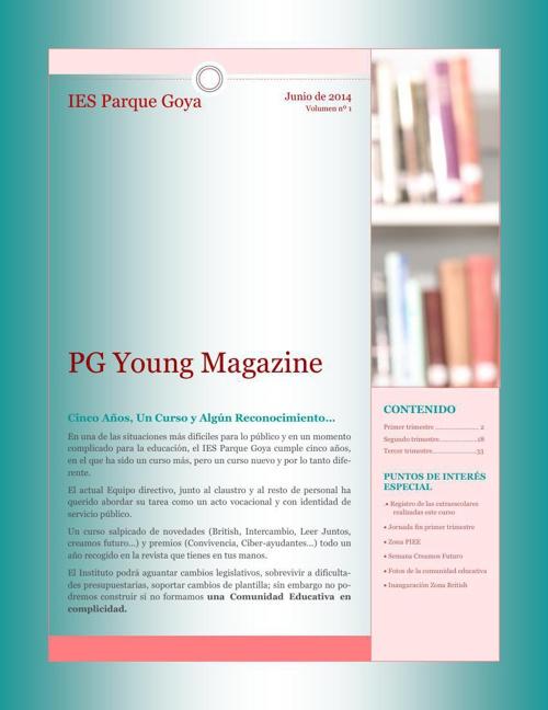 Publicación REVISTA IES P. GOYA 3º trimestre