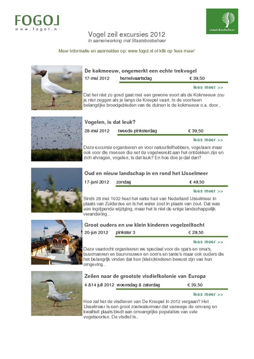 vogelvaarexcursies