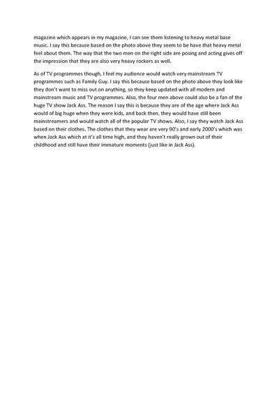 Media Evaluation Questions 3 & 4