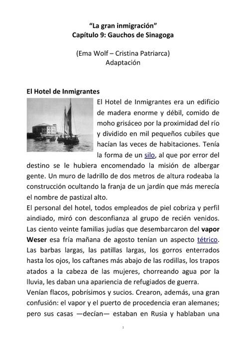 Inmigración Judía a la Argentina