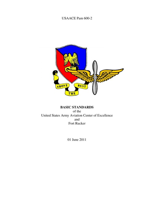 USAACE Pam 600-2