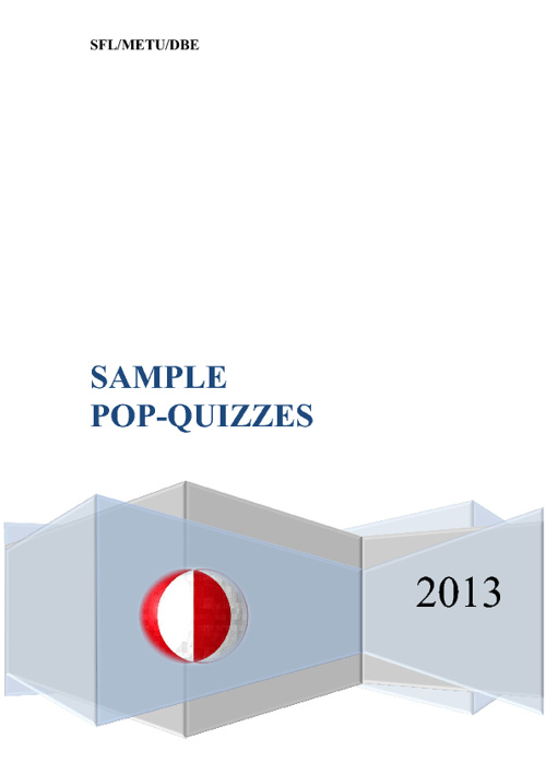 Sample Pop-Quizzes at DBE
