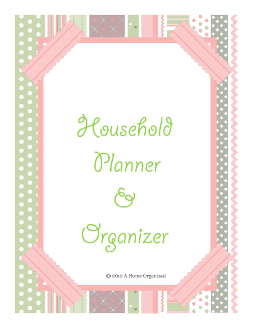 A Home Organized Planner