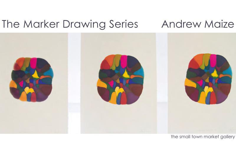 The Marker Drawing Series  - Andrew Maize @ the small town marke