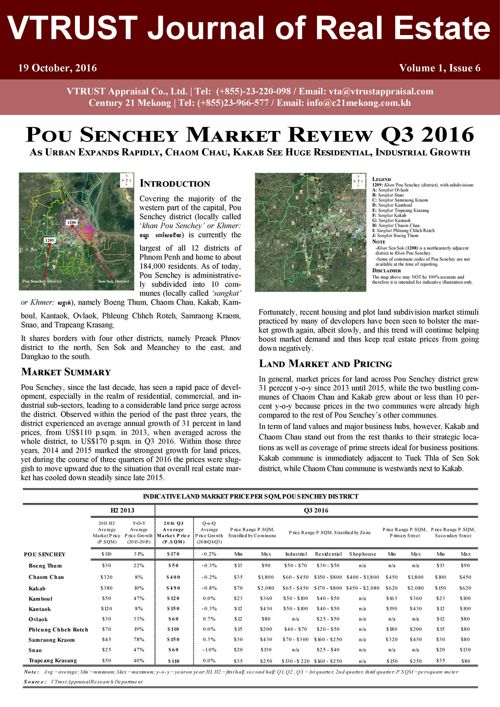 Pou Senchey Market Review Q3 2016- Vtrust Appraisal - English