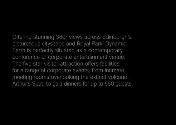 Dynamic Earth Events Brochure