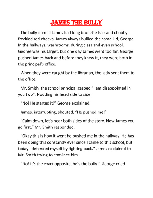James The Bully by Philip Hwang