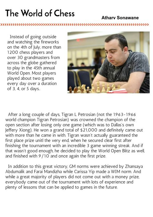 The World of Chess Issue 1
