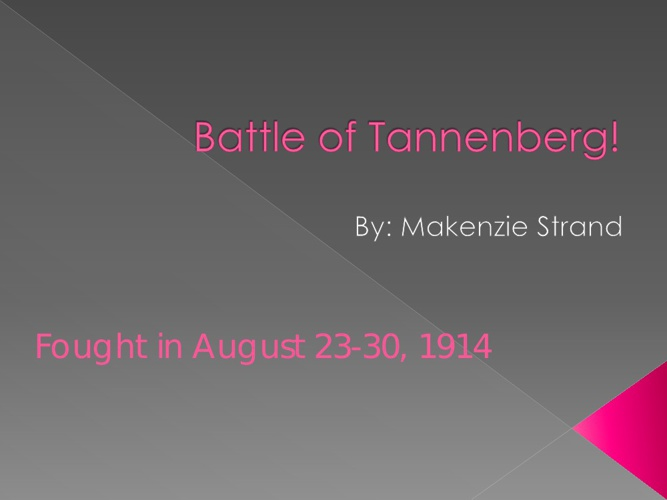 Battle of Tannenberg! By ms