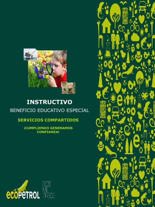Instructivo Beneficio Educativo Especial