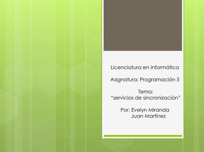 servicios de sincronizacion