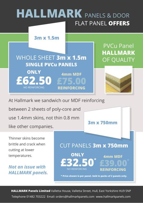 Hallmark PVCu Panel Offers
