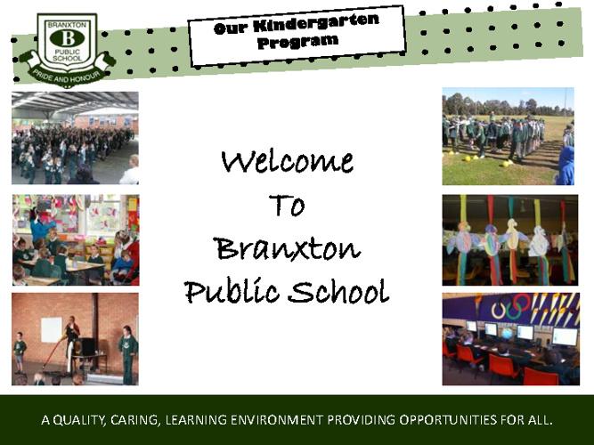 Welcome to Kindergarten at Branxton Public School