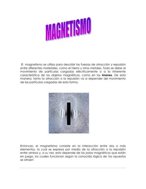magnetismo y luz