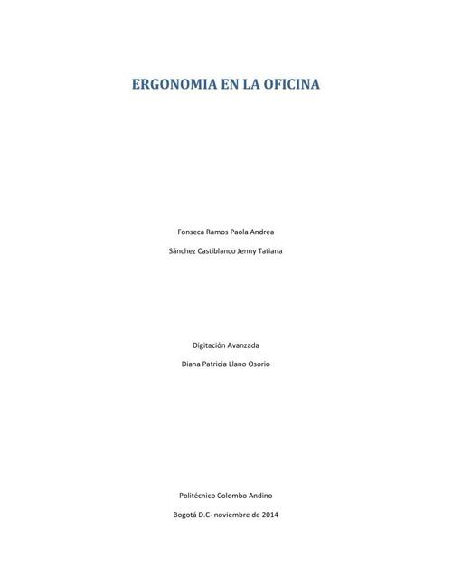 ERGONOMIA EN LA OFICINA.,,
