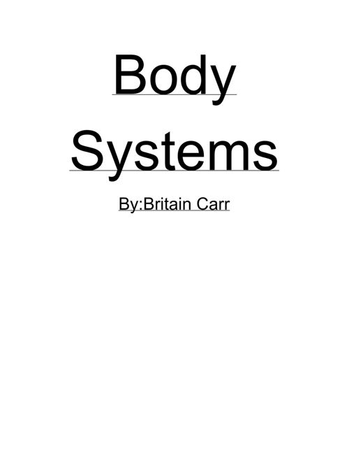 Body systems flip book