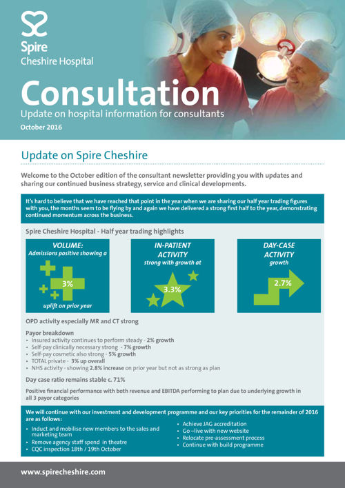 Spire Cheshire Consultant Newsletter