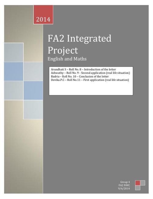 FA2 NWC Integrated Project