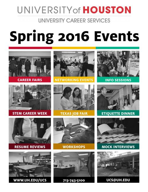 University Career Service: Spring 2016 Event Booklet