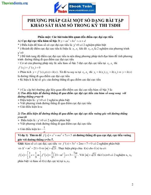 phương pháp khảo sát hàm số