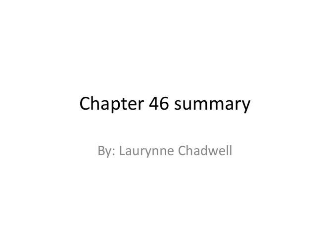 Chapter 46 summary