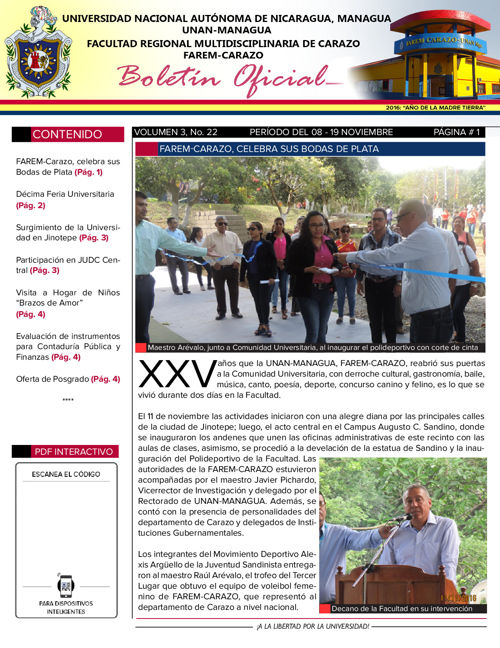 Boletín Oficial (Vol3. Núm.22)