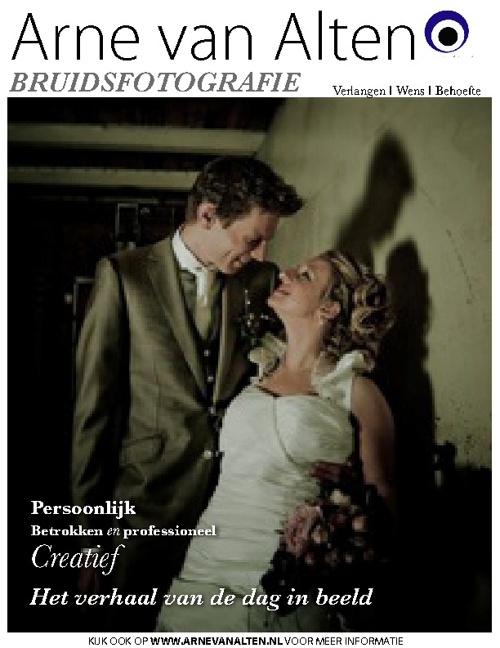 Bruidsfotografie promo magazine