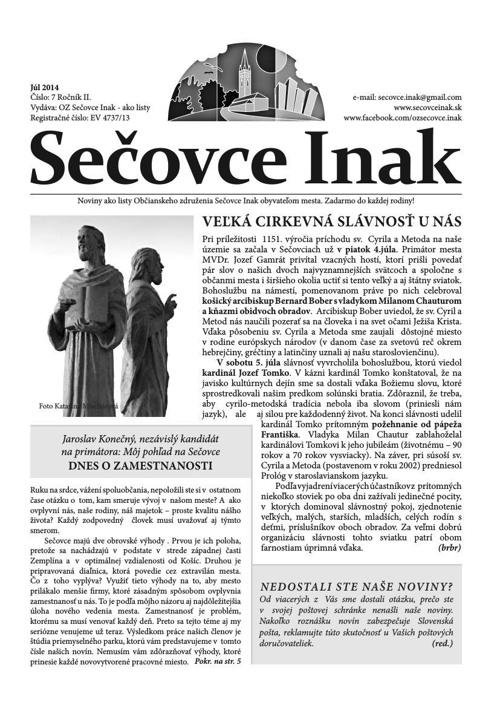 Sečovce Inak - Júl 2014 /online/