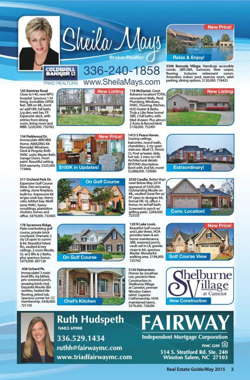 Davie County/Clemmons Real Estate Guide May 2015