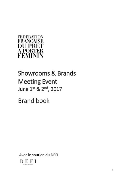 Showroom and brands meeting event - Brand book
