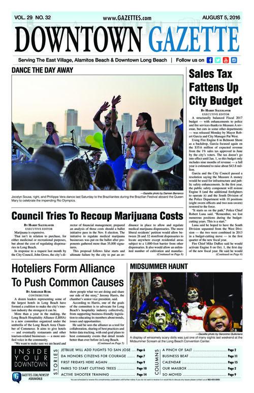 Downtown Gazette     August 5, 2016