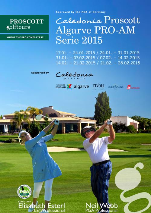 Algarve Pro Am's in February 2015 mit Lisl Esterl & Neil Webb