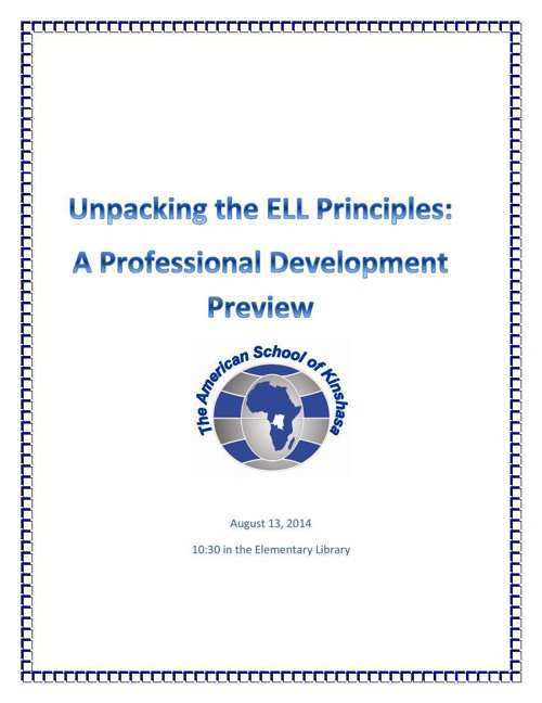 Key Principles for ELL Instruction 2