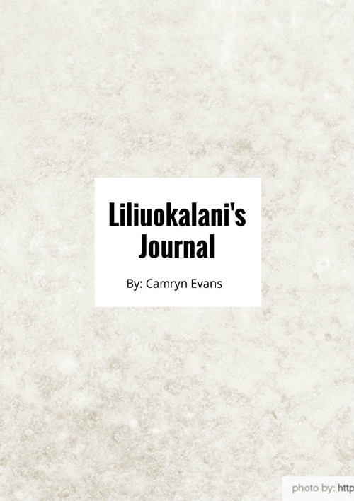 Copy of Queen Liliuokalani's Journal