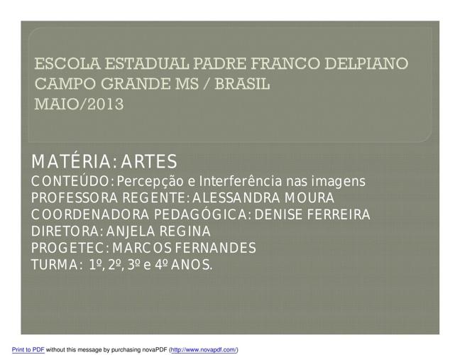 Interferência e Percepção de Imagens Padre Franco Delpiano