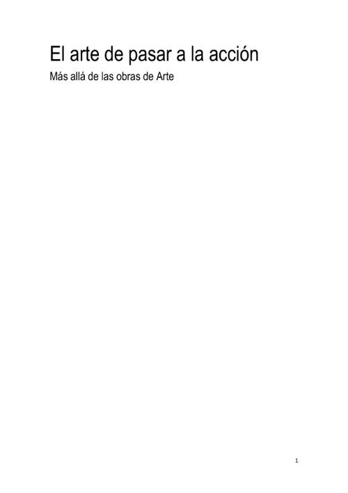 EL ARTE DE PASAR A LA ACCIÓN