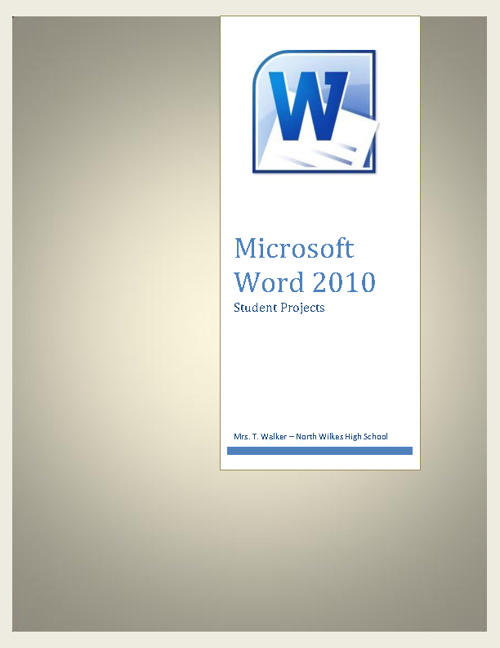 Microsoft Word 2010 Student Projects