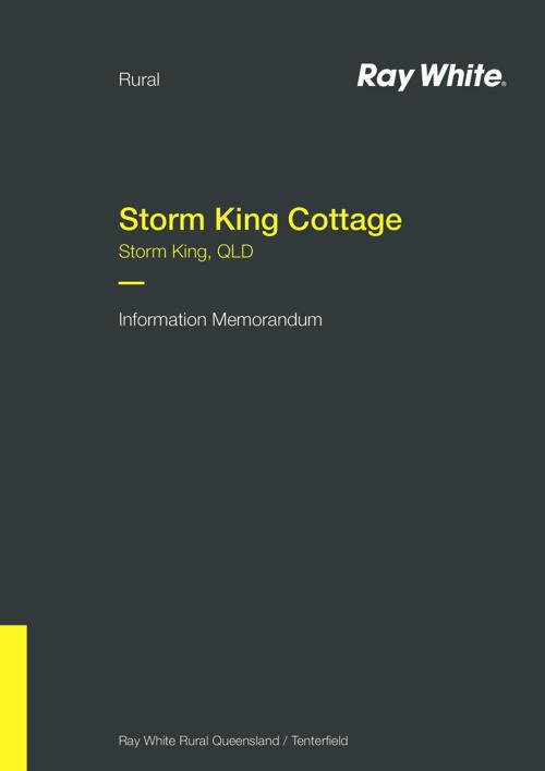 Storm King Cottage Information Memorandum