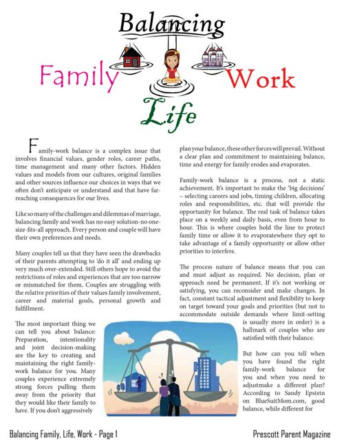 Balancing Family, Life, Work - Prescott Parent Magazine