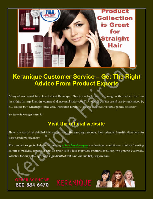 Keranique Customer Service – Get The Right Advice From Product E