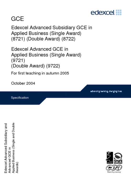 Applied Business Studies Specification