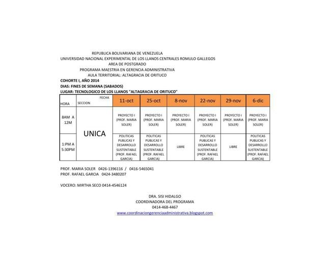 I TRIMESTRE  ALTAGRACIA DE ORITUCO 2014
