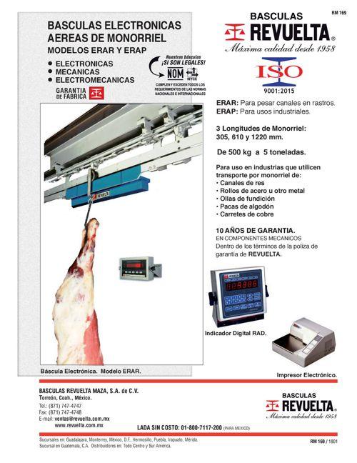 RM 169 BÁSCULAS ELECTRÓNICAS AÉREAS DE MONORRIEL