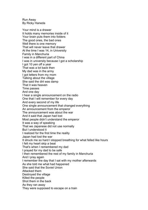 Ricky's War Poem