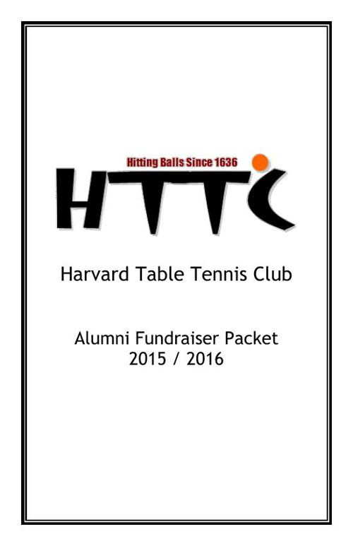 HTTC Alumni Packet 2015