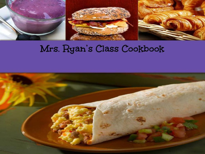 Mrs. Ryan's Cookbook